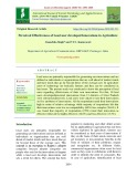 Perceived effectiveness of lead user developed innovations in agriculture
