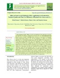 Effect of sources and methods of zinc application on productivity, nutrient uptake and zinc use efficiency of basmati rice (Oryza sativa L.)