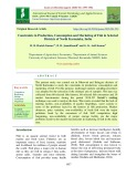 Constraints in production, consumption and marketing of fish in selected districts of North Karnataka, India