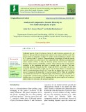 Analysis of comparative genetic diversity in two cultivated species of jute