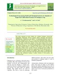 Technological gap among small and marginal farmers in adoption of improved cultivation practices of chickpea crop