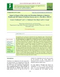 Impact of stages of harvesting and threshing methods on moisture, protein and oil content of soybean [Glycine max (L.) Merrill] cv. DSb-21