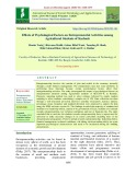 Effects of psychological factors on entrepreneurial activities among agricultural students of Kashmir