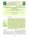 Effect of soil and foliar application of micronutrients mixture on growth and yield of Blackgram