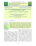 Effect of packaging material and storage period on quality of aonla and cereal based extruded R-T-E snack