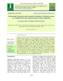 Yield, quality parameters and economics of sunflower (Helianthus annuus L.) as influenced by micronutrient mixture foliar application