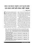 Báo cáo phát triển con người 2009 và các chỉ số của Việt Nam