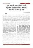 Thực trạng xây dựng và đề xuất một số nội dung hệ thống chỉ tiêu thống kê phát triển bền vững Việt Nam