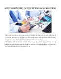 Kinh nghiệm đọc và phân tích báo cáo tài chính