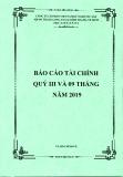 Báo cáo tài chính quý 3 và 9 tháng đầu năm 2019 - Công ty cổ phần Việt Nam Kỹ nghệ Súc sản