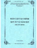 Báo cáo tài chính quý 4 và năm 2019 - Công ty cổ phẩn Việt Nam Kỹ nghệ Súc sản (Trụ sở chính)