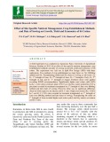 Effect of site specific nutrient management, crop establishment methods and date of sowing on growth, yield and economics of BT cotton