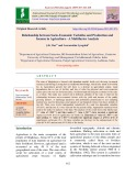 Relationship between socio-economic variables and production and income in agriculture - A multifactor analysis