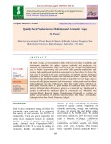 Quality seed production in medicinal and aromatic crops