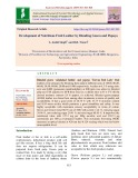 Development of nutritious fruit leather by blending guava and papaya