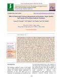 Effect of integrated nutrient management on economics, sugar quality and uptake of parching sorghum genotypes