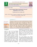 Socio economic profile characteristic of farmers regarding use of ICT tools