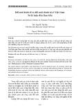 Đổi mới kinh tế và đổi mới chính trị ở Việt Nam: Từ lý luận đến thực tiễn