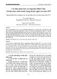 Cái nhìn nhân bản của Nguyễn Minh Châu về hiện thực chiến tranh trong truyện ngắn sau năm 1975