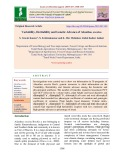 Variability, heritability and genetic advance of Ailanthus excelsa