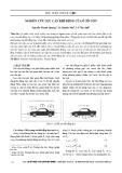 Nghiên cứu lực cản khí động của ô tô con