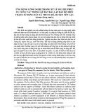 Ứng dụng công nghệ trong xử lý số liệu phục vụ công tác thống kê đất đai, lập bản đồ hiện trạng sử dụng đất xã Trung Hà, huyện Yên Lạc, tỉnh Vĩnh Phúc