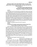 Đánh giá khả năng hấp phụ ion Pb2+ của đá ong khai thác tại xã Quỳnh Châu, huyện Quỳnh Lưu, tỉnh Nghệ An