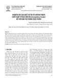 Nghiên cứu tạo giấy chỉ thị từ anthocyanin chiết xuất từ rau dền đỏ (Amaranthus tricolor) để thử hàn the trong thực phẩm