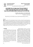 Ảnh hưởng của các nồng độ BAP tới sinh trưởng lá và một số chỉ tiêu hoa của cây lan Hồ điệp lai giống Tasuco Anna đỏ phượng hoàng (Phalaenopsis sp.) tại Phú Thọ