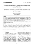 Con số và các biện pháp tu từ trong thành ngữ, tục ngữ, ca dao Việt Nam