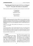 Ứng dụng giải thuật di truyền để tối ưu các thông số Tỉ lệ Vi - Tích phân điều khiển cho Quadrotor