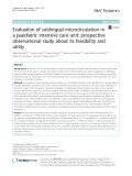 Evaluation of sublingual microcirculation in a paediatric intensive care unit: Prospective observational study about its feasibility and utility