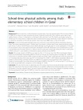 School-time physical activity among Arab elementary school children in Qatar