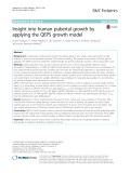 Insight into human pubertal growth by applying the QEPS growth model