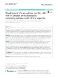 Development of a wheelchair mobility skills test for children and adolescents: Combining evidence with clinical expertise