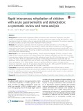 Rapid intravenous rehydration of children with acute gastroenteritis and dehydration: A systematic review and meta-analysis