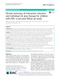 Clinical outcomes of interactive, intensive and individual (3i) play therapy for children with ASD: A two-year follow-up study