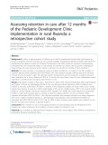 Assessing retention in care after 12 months of the Pediatric Development Clinic implementation in rural Rwanda: A retrospective cohort study