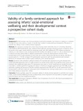 Validity of a family-centered approach for assessing infants' social-emotional wellbeing and their developmental context: A prospective cohort study