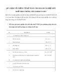 Quy định về chứng từ kế toán cho doanh nghiệp siêu nhỏ theo Thông tư 132/2018TT-BTC