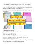 Quy định về chứng từ kế toán: Lập - Ký - Hợp lệ