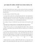 Quy định về chứng từ kế toán theo Thông tư 133
