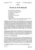 Bài giảng Phân tích chính sách công – Chương 3: Cấu trúc các vấn đề chính sách