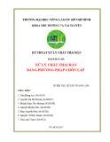 Tiểu luận môn Kỹ thuật xử lý chất thải rắn: Xử lý chất thải rắn bằng phương pháp chôn lấp