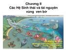 Bài giảng Chương 2: Các hệ sinh thái và tài nguyên vùng ven bờ