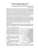 Giải pháp công trình giảm thiểu ngập lụt khu vực nội thành TP. Nha Trang