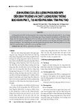 Ảnh hưởng của liều lượng phân bón NPK đến sinh trưởng và chất lượng rừng trồng bạch đàn PNCTIV tại huyện Phù Ninh, tỉnh Phú Thọ