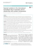 Seasonal variation in the international normalized ratio of neonates and its relationship with ambient temperature
