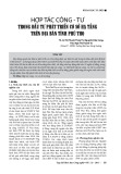 Hợp tác công - tư trong đầu tư phát triển cơ sở hạ tầng trên địa bàn tỉnh Phú Thọ