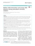 Mother-child interactions and young child behavior during procedural conscious sedation